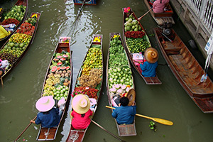 Wet market in Thailand
