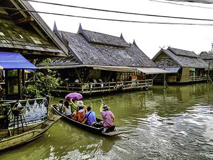 Houses on water in Thailand